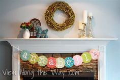 How to make a word banner - great for parties, showers, etc! (No cricut or silhouette machine needed!)