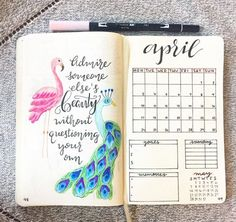 Monthly Bullet Journal Spreads - Quote of the Month
