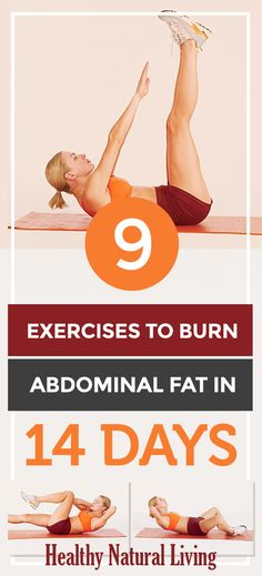 9 Exercises to Burn Abdominal Fat in 14 Days 13 Day Diet, Abdominal Fat, Abdominal Exercises, Fitness Exercises, Ab Workouts, Cardio, Stomach Muscles, Home Beauty Tips, Beauty Hacks