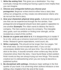 Beginning your story