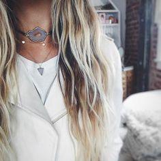 || Layered up in the Siobhan vegan leather choker, Briana choker and Ava necklace 🌸xx . . . . . . . . #choker #goldchain #luxe #delicate #14kgold #jewelrydesigner #jewelryforacause #donate #giveback #savetheocean #saveourseas #festivalfashion #jotd #handmade #details #fashiondiaries #bohemian #madeincalifornia #la #goldjewelry #jotd #jewelryaddict #festivaljewelry  #gypset  #agate