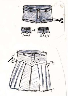 . denim skirts! DIY
