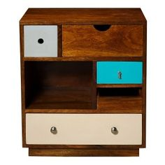 Vincent Wood Chest, Oliver Bonas, Image by Oliver Bonas Unique Bedroom Furniture, Chest Furniture, Retro Furniture, Living Furniture, Contemporary Furniture, Painted Furniture, Unusual Furniture, Bedroom Ideas, Furniture Storage