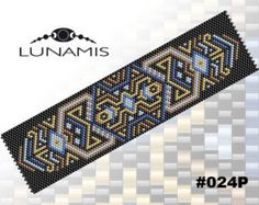 PATTERN ONLY. Create this beautiful peyote cuff bracelet. Miyuki Delica Beads size 11/0 Odd count with 5 bead colors. 31 bead columns by 91 bead rows. Width: 1.6 (4,2 cm) Length: 6.2 (16 cm) Patterns include: - Large colored numbered graph paper (and non-numbered in another files) - Bead legend (numbers and names of delica beads colors ) - Word chart - Pattern preview This pattern is intended for users that have experience with odd count peyote and the pattern itself does NOT include...