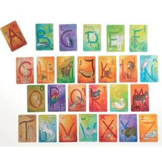 Waldorf Alphabet Letter Cards, English - Bella Luna Toys