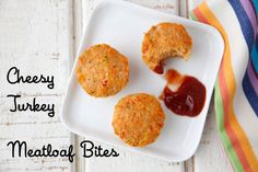 Cheesy Turkey Meatloaf Bites from Weelicious.com