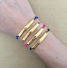 Gold Plated Live the Moment Message Bar Connector Friendship