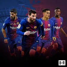 Coutinho, Messi, Suarez and Dembele. Quite the front four