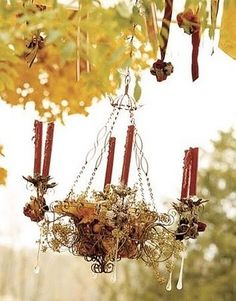 Miss Bloomers: Outdoor Chandelier