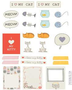 FREE I Love My Cat Planner Pet by emcasablog.com                                                                                                                                                      Mais