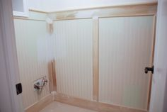 Rambling Renovators: The Basement: Bathroom Beadboard Panelling