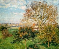 Pissarro, Camille : Autumn morning in Eragny. Description from art-prints-on-demand.com. I searched for this on bing.com/images