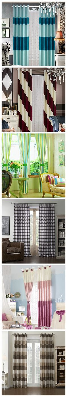 Dress up your windows with fun stripes! Vertical, horizontal, sideways, wide, thin - so many choices. Find your favorites with us!