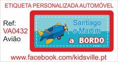 Etiquetas Automóvel Ref: VA0432 Avião Preço: 8,00€