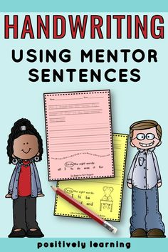 Do any of your first and second grade students still need extra support with handwriting? This HUGE set combines handwriting practice with mentor sentences! Over 180 favorite quotes from popular read alouds are included. Add to your writing center today! #handwriting #mentorsentence