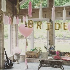 BRIDE Letter Balloons Bridal Shower Decor by StudioPep on Etsy