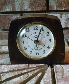 Mid Century Alarm Clock Vintage 50's Wood Case M,W. & Co. Chicago ill. in Collectibles, Clocks, Vintage (1930-69) | eBay
