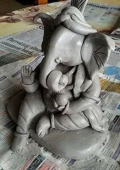 How to Make Ganesh Idol at Home 23