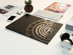 Custom Portfolio book - Matte Black with black hinges and metallic vinyl decal. Portfolio Book, Turntable, Matte Black, Vinyl Decals, Music Instruments, Metallic, Record Player, Musical Instruments