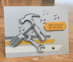 Stampin' Up! Nailed It handmade masculine card - North Shore Stamper
