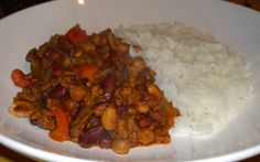 Mixed bean and Quorn chilli Slimming World Recipes, Beans, Food, Meal, Beans Recipes, Eten, Meals, Prayers