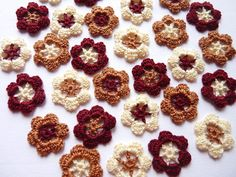 Small handmade assorted crochet flowers by SunisSerendipity, $9.00