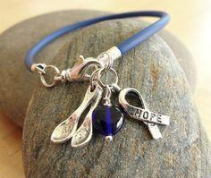 Blue Awareness Bracelet The Spoon Theory POTS door Twenty2Roses