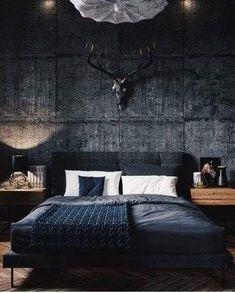 Inspirations Mens Bedroom Ideas - All Bedroom Design Dream Bedroom, Home Decor Bedroom, Modern Bedroom, Master Bedroom, Bedroom Black, Night Bedroom, Bedroom Rustic, Bedroom Art, Bedroom Furniture