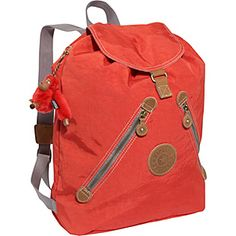 Kipling Fundamental 25th Anniversary in tangerine #backtoschool #backpacks
