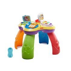 Entice your baby to stand up and cruise about with the Fisher-Price Laugh & Learn Puppy & Friends Learning Table, as featured in our Baby's First Christmas Gift Guide 2015, 9-12 months! #BRUChristmas