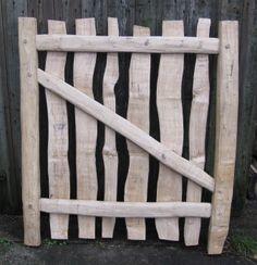 Owen Jones- cleft oak field gate Wooden Garden Gate, Wooden Gates, Garden Doors, Garden Fencing, Cedar Gate, Timber Gates, Country Fences, Green Woodworking, Fence Gate