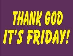 New Custom Screen Printed T-shirt Thank God It's Friday Humor Sm