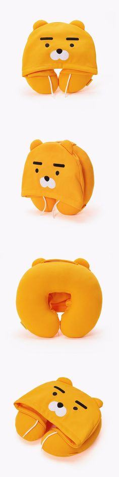 Travel Pillows 58730: [Kakao Friends] Ryan Face Hoodie Neck Pillow Travel Accessories Free Tracking -> BUY IT NOW ONLY: $36.89 on eBay!