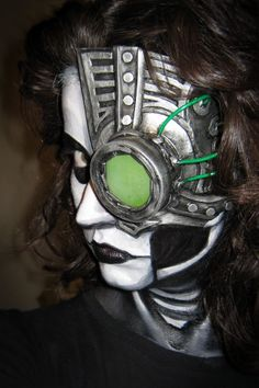 Cyborg/Robot Prosthetic for $5 of Under #halloween #mask #makeup #cyberpunk SFX prosthetics and accessories