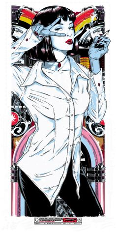 Rhys Cooper Mia Wallace Pulp Fiction Movie Poster Print Art Glow in the Dark Mia Wallace, Tarantino Films, Quentin Tarantino, Rhys Cooper, Spoke Art, Kunst Poster, Alternative Movie Posters, Movie Poster Art, Arte Pop