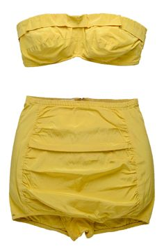 Two-piece bathing suit, 1940s, Par-Form Foundations. Charleston Museum