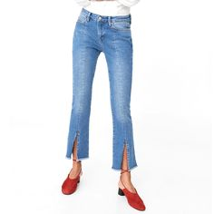 Tajos - Mango Frontcut Straight Jeans, $70