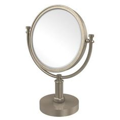 Allied Brass Vanity Top Make-Up Magnification Mirror with Twist Detail Finish: