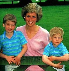 Princess Diana & her sons