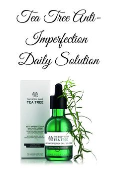 Buy Tea Tree Ant-Imperfection Daily Solution - Face At Tea tree essential oil is renowned for its powerful, purifying properties. We sustainably hand-harvest our Community Trade organic tea tree leaves within 12 hours, so we can bottle our p Body Shop Tea Tree, The Body Shop, Tea Tree Essential Oil, Essential Oils, Mount Kenya, Buy Tea, Tea Tree Oil, Im Not Perfect, Conditioner