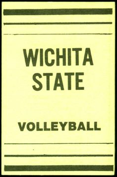 1986 WICHITA STATE SHOCKERS VOLLEYBALL POCKET SCHEDULE FREE SHIP #Schedule