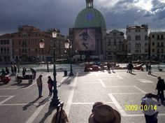 Venice!  what you see when you exit the train station ......