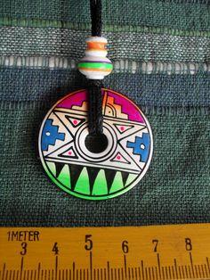 1 Anhänger aus Peru handgefertigt Hippieschmuck Donut Nr.8  Folklore Schmuck neu