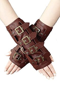 Restyle Pair of STEAMPUNK ARMWARMERS Brown Faux Leather R... https://www.amazon.co.uk/dp/B00MGHZ43I/ref=cm_sw_r_pi_dp_x_7h4zyb5VHBHN2