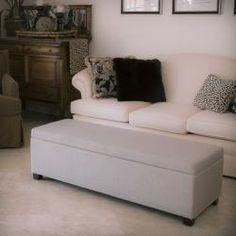 Lucinda Taupe Fabric Storage Ottoman @ overstock.com