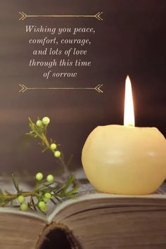 Condolence Messages, Condolences, Pillar Candles, Candle Jars, Words Of Comfort, Losing A Loved One, Sympathy Cards, Grief, Peace And Love