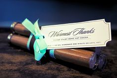 10 Unique Wedding Favor Ideas – Tulle Tales I like the label