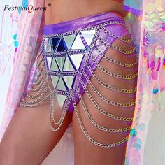 Gender: Women Model Number: Waistline: Natural Style: Sexy & Club Dresses Length: Above Knee, Mini Brand Name: FestivalQueen Material: Polyester,Acrylic Silhouette: Straight Decoration: Sequined Pattern Type: Geometric Festival Skirts, Edm Festival, Festival Tops, Festival Wear, Festival Outfits, Festival Fashion, Festival Clothing, Festivals, Burning Man Fashion