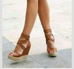 Leather Wedges. .Nice