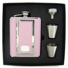 Visol SP Supreme Flask Gift Set With Built In Cigarette Case - 6 ounces